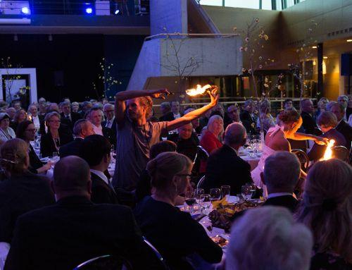 Akademisk högtid på Linnéuniversitetet i Växjö – Eldshow och LEDshow
