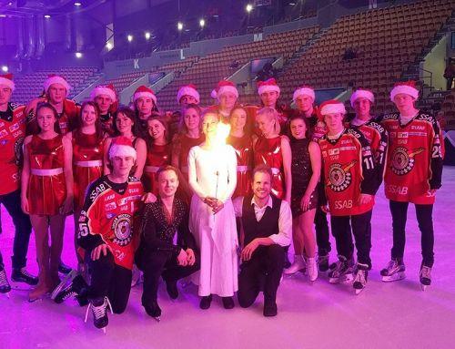 Eldshow på Christmas on Ice med Luleå konståkningsklubb